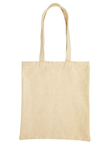 KitchenCraft Natural Elements Reusable Shopping Bag, Recycled Plastic Foldable Vegan Tote, 41 x 37cm