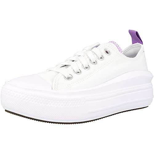 Converse Chuck Taylor All Star Move Lo Blanco/Lila (White/Pixel Purple) Tela 40 EU