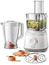 PHILIPS Daily Collection Compact Food Processor, HR7320/01, 700W Power, 19 functions, quick and easy assembly of all part...