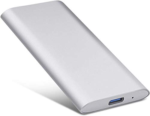 Disco duro externo portátil de 2 TB con USB 3.1 para PC, Mac, ordenador de sobremesa, portátil (2 TB, plateado)