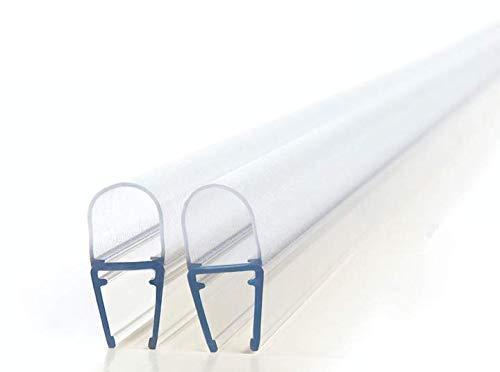 Premium Duschdichtung Set (2x 200cm) - Wasserabweisende Dichtung für Duschkabinen - Bei 6mm - 8mm Glasdicke geeignet/Dichtung für Duschtür/Dichtlippe Dusche