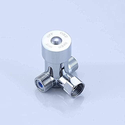 Interruptor de agua fría y caliente operado con el pie del grifo, válvula mezcladora, válvula de control de temperatura operada con el pie, tres vías, dos en uno operada con el pie (col