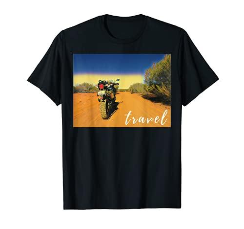 Motocicleta Travel Triumph Adventure Bike Moto Camiseta