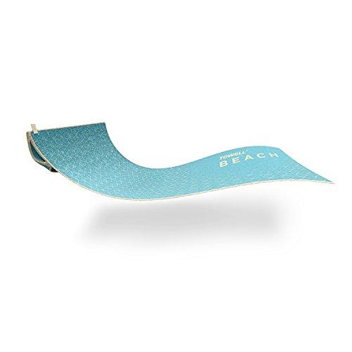 STRYVE ® TOWELL +Beach Strandhandtuch (180 x 90cm) Großes Strandtuch, Perfektes Urlaub Zubehör (Grau, Blau, Peach) Badetuch Mit Tasche