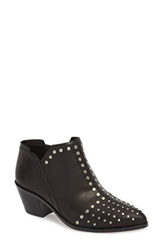 1.STATE Womens Loka Leather Pointed Toe Ankle, Black Portogallo, Size 6.5