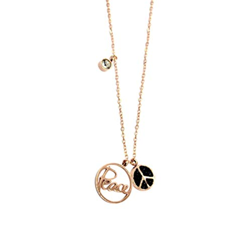 TENDYCOCO Coin Hanger Halsketting Strass Letter Charm Choker Gouden Vergulde sleutelhanger Sieraden Accessoires Gift voor Meisjes Vrouwen
