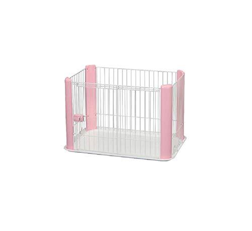Iris Ohyama, Parque interior para perros / cachorros con base, puerta corredera con pestillo, ganchos para un fácil montaje, para perro - Pet Circle CLS-960 - Rosa