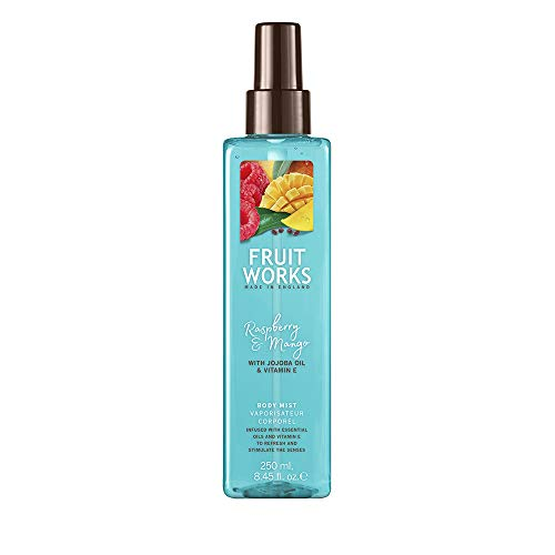 Fruit Works Raspberry & Mango Cruelty Free & Vegan Body Mist With Natural Extracts 1x 250ml