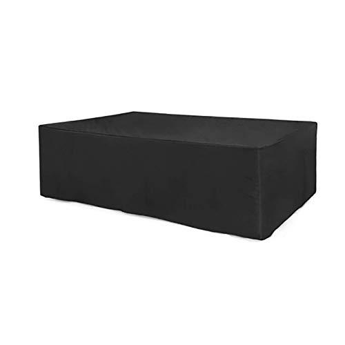 Fundas para muebles de jardín a prueba de agua, al aire libre a prueba de viento y anti-UV Fundas para muebles de patio, fundas para sillas para sofá, mesa, silla, fund(Size:115*115*70cm,Color:negro)