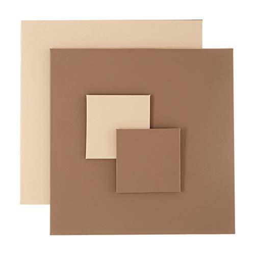 Premier Housewares Geome Reverse Ensemble de 4 Cartes et crème en polyuréthane Taupe 29 x 29 x 1 cm