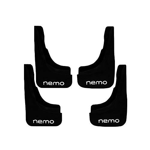 accessorypart Paraspruzzi per Citroen Nemo 2007-2020 Parafanghi anteriore + posteriore 4 pezzi KIT