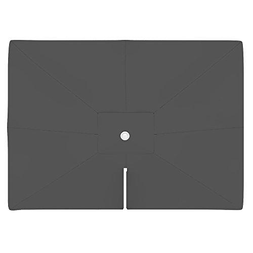 paramondo Sonnenschirm Bespannung Ink. Air Vent für parapenda Ampelschirm (4 x 3m /rechteckig), grau