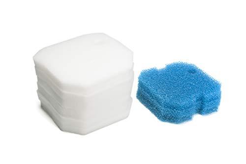 Sin Marca Estera de filtro Esponja de filtrado gruesa de color azul y Esponja de filtrado fina de color blanco de reemplazo para Eheim 2616260 Professional Pro 2 2226/2326/ 2026/2128 y Experience 350 (9 piezas por 3 esteras)