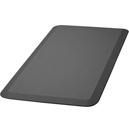HemingWeigh Anti Fatigue Comfort Floor Mat Non-Slip, Cushioned Kitchen Mat, Ergonomically Engineered, Non-Toxic Material, Waterproof 3/4 Inch (Black)