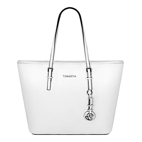 Tom & Eva Damen Handtasche 6288F TE-Jet Set Travel Bag Tasche Weiß