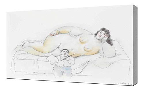Fernando Botero Painter and Model - Leinwandbild - Kunstdrucke - Gemälde Wandbilder