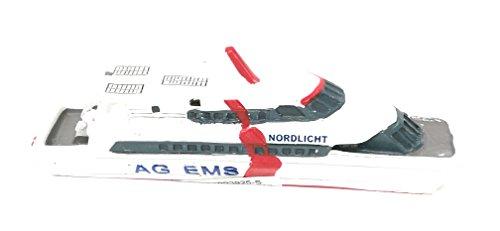 Unbekannt Schiffsmodell HC Nordlicht Miniatur Boot Schiff ca. 12 cm Borkum Emden Nordsee