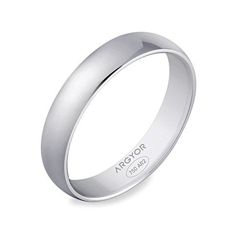 ALCEO-www.diamants-perles.com-Alliance, matrimonio, oro bianco, 375/1000-9 carati, larghezza 3 mm