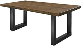 comprar comparacion COMIFORT Mesa de Comedor - Mueble para Salon Oficina Despacho Robusto y Moderno de Roble Macizo Color Nogal, Patas de Acer...