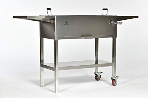 IG Charcoal BBQ IG693247 BBQ Grill, Silver