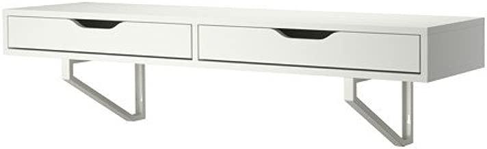Ikea White Wall Shelf with drawers 46 7/8x11 3/8