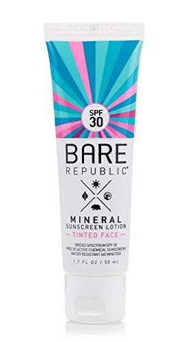 Bare Republic Mineral Tinted Face Sunscreen Lotion. Lightweight and Water-Resistant Tinted Moisturizer, 1.7 Ounces