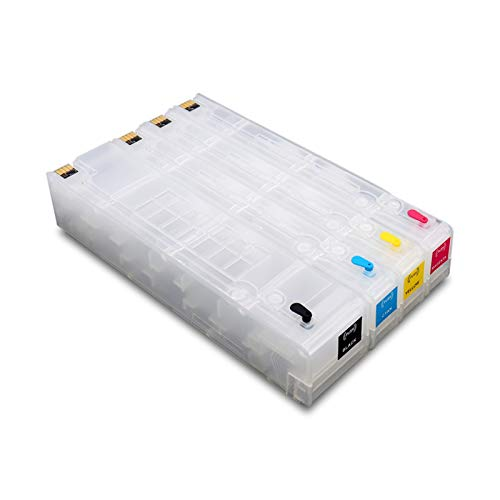WSCHENG 970 971 4colors para HP970 971 Cartuchos de Tinta recargantes Compatible con HP X451DN X551DW DW X476DN X576DW Sin Chips