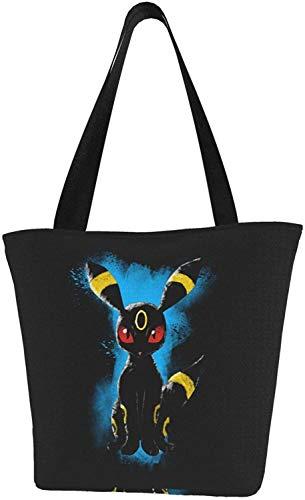 Portgas D Ace Einkaufstasche, wiederverwendbar, für Geschenk, Shopping, Schule, - Poke Monster - Eevee Umbreon - Größe: Einheitsgröße