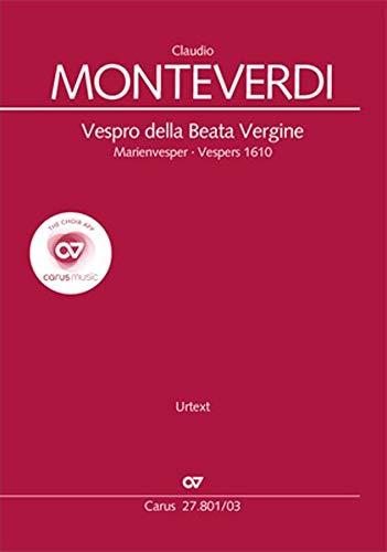 Vespro della Beata Vergine (Klavierauszug): Marienvesper SV 206