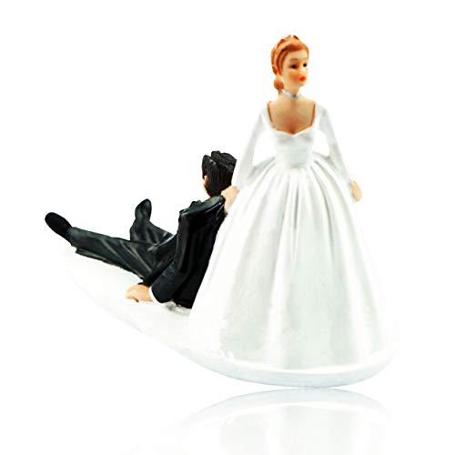 Felimoa ケーキトッパー ウェディングケーキ デコレーション かわいい キャラクター 結婚式 の 引き出物 や 結婚記念日 ケーキの上に置く置物としてや プレゼント などにも