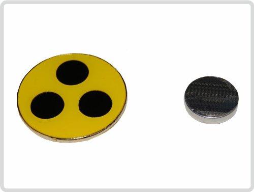 Blindenplakette aus Metall mit Magnet