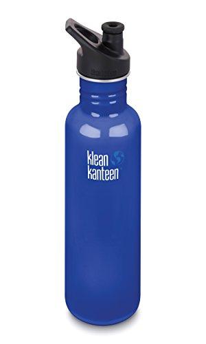 Klean Kanteen Classic 27oz (800ml) Edelstahlflasche mit Sport Cap (Coastal Waters)