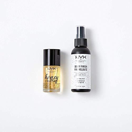 NYX Professional Makeup Primer und Setting Spray Makeup Set, 2-teilig, Honey Dew Me Up Gesichtsgrundierung und Dewy Makeup Fixierspray, Vor- und Nachbereitung für langanhaltendes Makeup