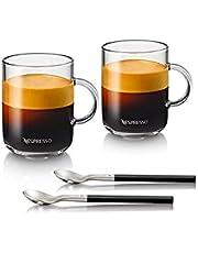 Nespresso Vertuo zestaw kubków do kawy (2 x 390 ml) z 2 łyżeczkami szklanek