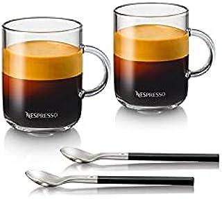 Nespresso Vertuo Coffee Mug Set (2 x 390 ml) incl. 2 Spoons Glass Cups