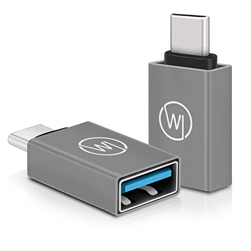 Wicked Chili OTG USB C-adapter op USB 3.0 (2X) compatibel met iPad Pro 2018 11, 12,9 inch, MacBook Air 2019/2018, MacBook Pro 2017-2019, Galaxy, Surface Go, USB C to USB-adapter Thunderbolt to USB