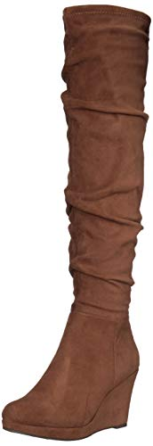 Chinese Laundry women's LARISA Over the Knee Boot, Oak Brown, 8.5 M US
