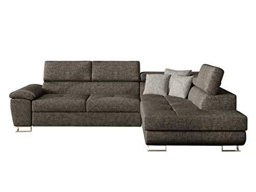 Mirjan24 Ecksofa Eckcouch Cotere, Sofa Couch mit Schlaffunktion und Bettkasten L-Sofa Farbauswahl Wohnlandschaft vom Hersteller (Argo 214 + Argo 214 + Agro 211, Seite: Rechts)