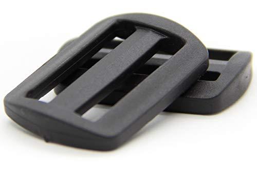 NTS Nähtechnik Leiterschnallen Stegschnalle Seitenschnalle Tragegurt Gurtschnalle Rucksackschnalle (10 Schnallen, 30mm)