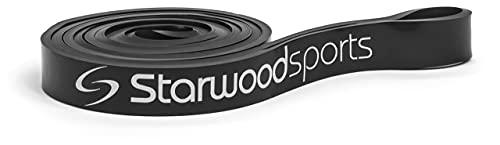 Starwood Sports Bandas elásticas - Bandas elásticas de musculación para Hombres y Mujeres - Trabaja la Fuerza y CREA músculos - Entrenamientos, dominadas asistidas - Negra, 11-30 kg de Resistencia