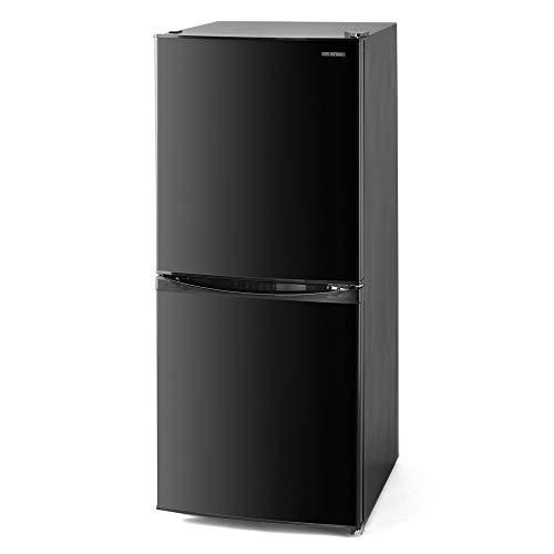 アイリスオーヤマ 冷蔵庫 142L (幅約50cm) 冷凍室52L 右開き 静音 ブラック IRSD-14A-B