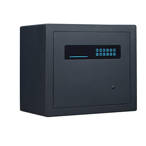 Meubelkluis, elektronisch wachtwoord, All Steel, anti-diefstal-safe voor thuis, kantoor en documenten, sieraden, waardebaar, veilig, klein, muurbeveiliging, veilig 40 * 35 * 28cm zwart