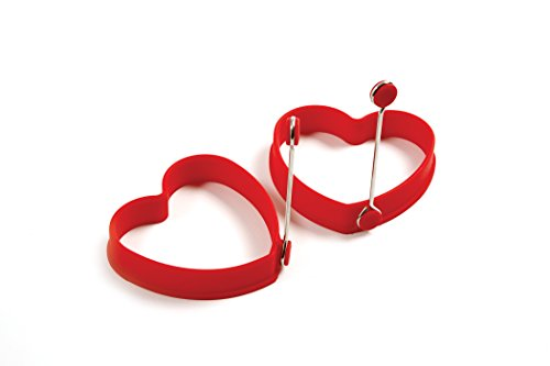 Norpro Silicone Heart Pancake/Egg Rings, 2 Pieces