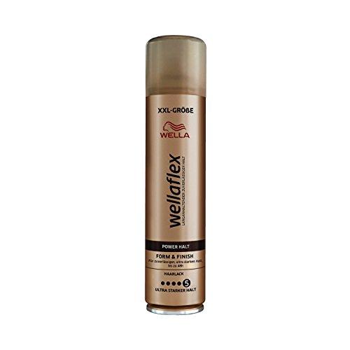 Wella Wellaflex Power Halt Form & Finish Haarlack für zuverlässigen, bis zu 48h, 6er Pack (6 x 400 ml)
