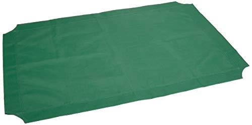 Amazon Basics – Funda de repuesto para la cama para mascotas elevada y aireada, grande, color verde