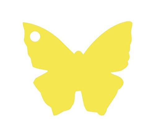 Chal - Etiquette Porte nom Papillon Jaune x10