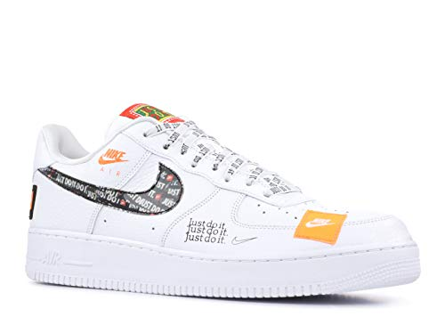 Nike Herren Air Force 1 '07 PRM JDI Fitnessschuhe, Mehrfarbig (White/White/Black/Total Orange 100), 45 EU