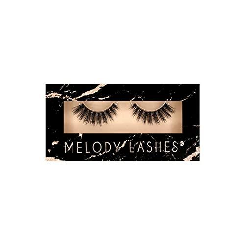 Melody Lashes natürliche vegane Wimpern, 3D Lashes , fluffig, wiederverwendbar, fake lashes (Cheerleader)