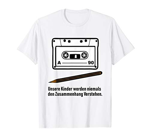 Vintage Kasette Bleistift Zusammenhang T-shirt