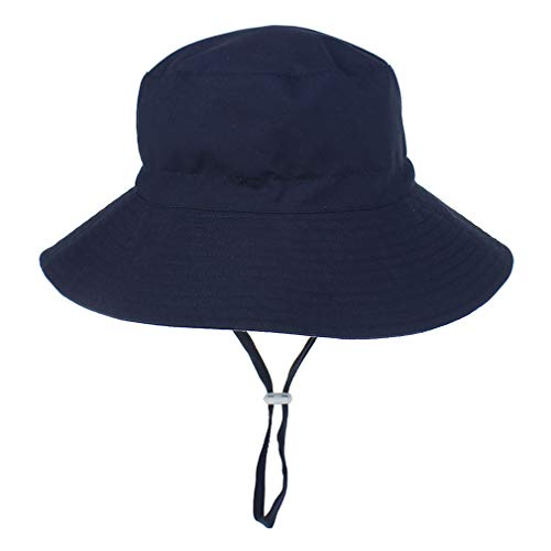 YAOXI Jungen Grils Kinder Chid Kinder Sommer Sonnenhut Cotton Breiter Großer Rand-Strand-Hüte Für Kinder Hut Sun Bonnet,H,M